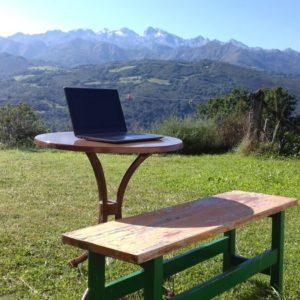 Digitale nomade met een vaste standplaats
