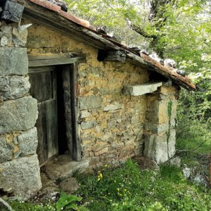 Een vrouw in een hut